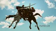 Favaro and Kaisar clashing sword in air