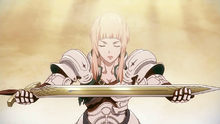 Jeanne receiving The Precieuse sword