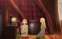 The Village Elder with Jeanne d'Arc and Nina Drango