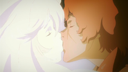 Amira kissing Favaro