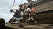 Favaro and Amon fighting as reunion