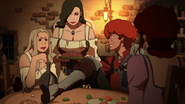 Favaro spending time in a bar