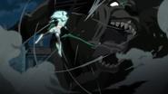Amira defeating the demon