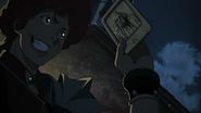 Favaro obtaining Garth's card