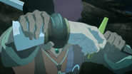 Favaro cutting Kaisar's arm