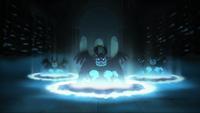 Garth summoning Lesser Demons