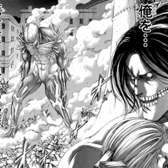 Eren ve a Reiner levantandose.