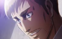 Erwin sonríe al escuchar la teoría de Hange