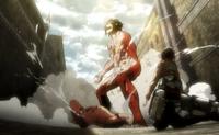 Eren en forma de titan capitulo 7