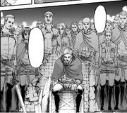 Erwin se lamenta por sus camaradas caídos