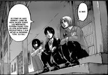 Armin, Eren y Mikasa