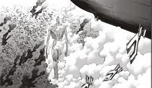 El Titan Colosal se mueve en medio de las ruinas