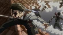 Levi mata a dos enemigos