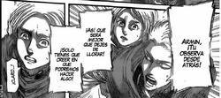 Jean le dice a Armin que se quede atrás