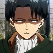 Levi con mirada sombria