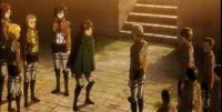 Jean le avisa a Eren de la muerte de Marco