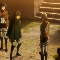 Jean le informa a Eren que Marco falleció