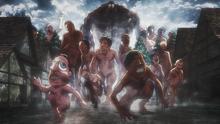 El Titán Bestia lidera a los titanes de Ragako (anime)