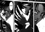 Kenny le entrega el suero a Levi