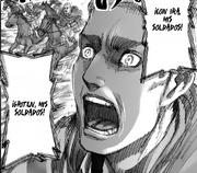 Erwin sigue alentando a sus soldados