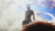 Zeke sale de su titán (anime)