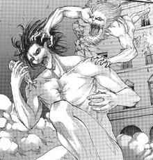 Porco ataca a Eren