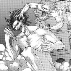 Porco Galliard ataca a Eren.