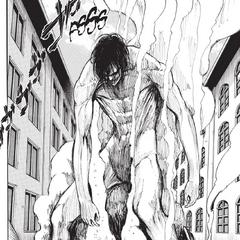 Eren se convierte en titan