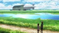 Faye y Grisha encuentran el dirigible (anime)