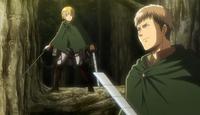 Jean y Armin especulan sobre lo que sucede