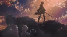Rivaille salva a Eren y los demas HD