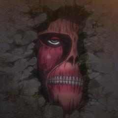 Un titán en la muralla de Sina.