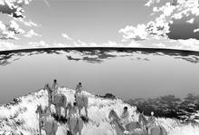 Los miembros de la Legion observan el mar