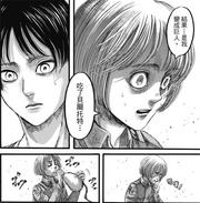 Armin intenta digerir lo que se le fue contado