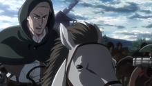 Erwin comandando a las tropas