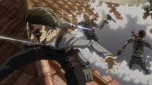 Levi mata a dos soldados
