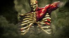 Eren protege a Mikasa y Armin
