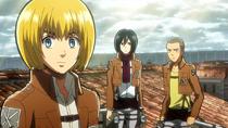 Armin propone el plan a Mikasa y Conny