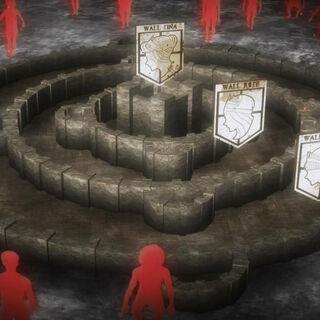 Vista tridimensional de las murallas.
