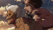 El Titán Acorazado escapa en compañia