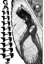 La Mujer Titán grita para llamar a los demás titanes