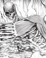 Eren se transforma parcialmente en titan