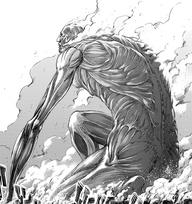 El Titan Colosal aparece en Shiganshina