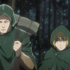 Armin es ayudado por Reiner Braun.