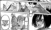 Jean le dice a Armin que deben apostar a que Eren despierte