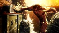 Eren transformado ataca a Mikasa