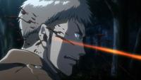 La bala corta el rostro de Jean
