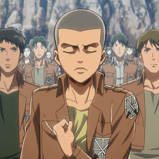 Connie hace mal el saludo de los soldados