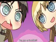 Armin y Eren ven el libro