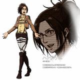 Diseño de Hanji en el anime